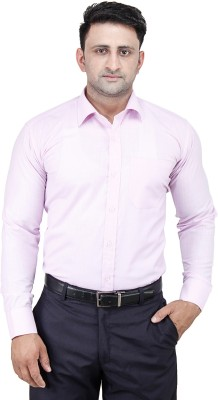 Comfortline Men's Solid Formal Purple Shirt
