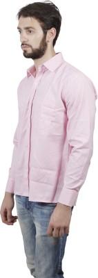FDS Men's Striped Formal Pink Shirt