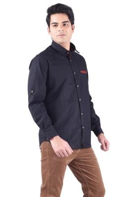 Passport Men's Solid Casual Black Shirt