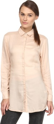 Annapoliss Women's Solid Casual Beige Shirt