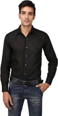 Aaral Men's Solid Casual Black Shirt