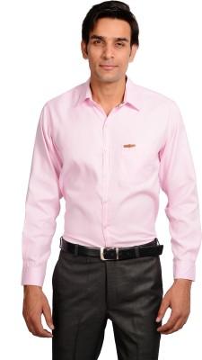 GARGI FASHIONS Men's Solid Casual Pink, White Shirt