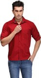 TSX Men's Solid Casual Red Shirt