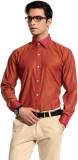 Cotton Crus Men's Solid Formal Orange Sh...