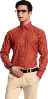 Cotton Crus Formal Shirts (Men's) - Cotton Crus Men's Solid Formal Orange Shirt