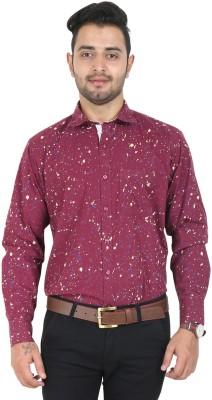 Crocks Club Men's Printed Casual Maroon Shirt