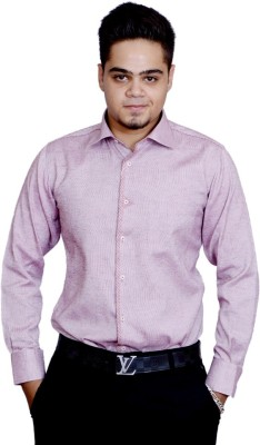 Side Effects Men's Solid Casual Pink Shirt