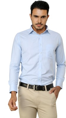 American Cult Men's Solid Formal Reversible Light Blue Shirt