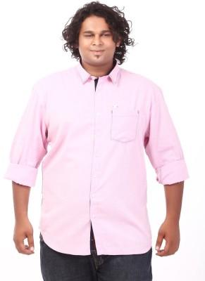 Ciroco Men's Solid Casual Pink Shirt