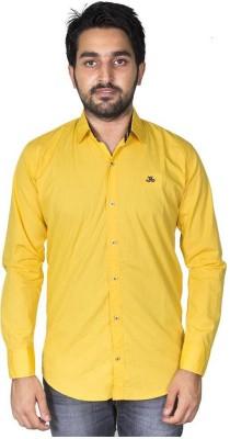 Mangue Men's Solid Casual Yellow Shirt