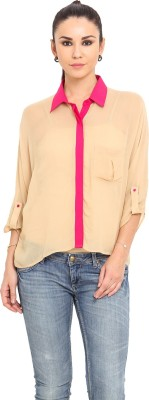 MSMB Women's Solid Casual Brown, Pink Shirt