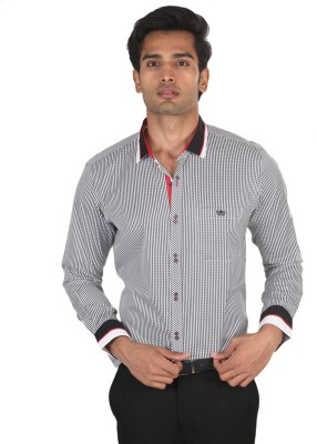 LSD Casuals Men's Checkered Casual Black, White Shirt