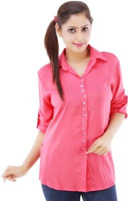 Divya Fashion Women's Solid Casual Red Shirt