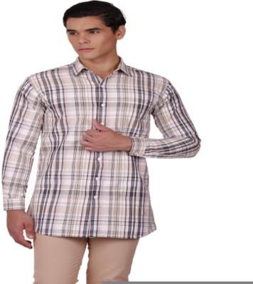 Baba Rancho Men's Houndstooth Casual Multicolor Shirt