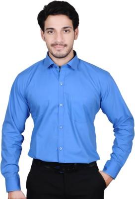 The Mods Men's Solid Formal Dark Blue Shirt