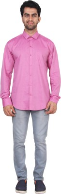 Rollinia Men,s Solid Casual Pink Shirt