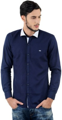 Triple Eight Men's Solid Casual Blue Shirt