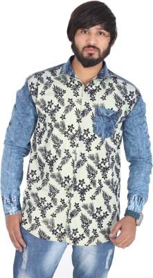 leports Men,s, Boy's Printed Formal Beige Shirt