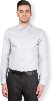 Mark Taylor Men's Checkered Formal Grey, White Shirt