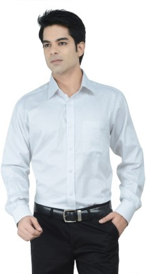 Alpha Centauri Men's Checkered Formal White Shirt