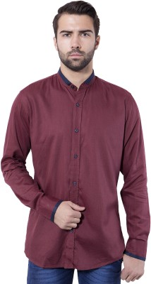 Tag & Trend Men's Solid Casual Red Shirt