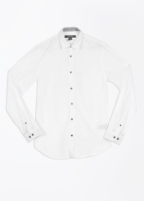 Kenneth Cole Reaction Men's Solid Casual White Shirt