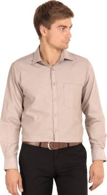 I-Voc Men's Woven Formal Brown Shirt