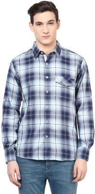 Urbano Fashion Men's Checkered Casual Black Shirt