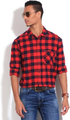 Quiksilver Men's Checkered Casual Red Shirt