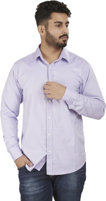 Defossile Men's Solid Casual Pink Shirt