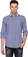 Vettorio Fratini By Shoppers Stop Formal Shirts (Men's) - Vettorio Fratini by Shoppers Stop Men's Self Design Formal Blue Shirt