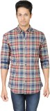 Eighty Eight Men's Checkered Casual Mult...