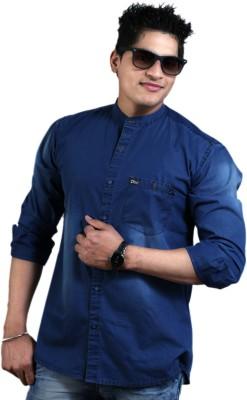 Vigroll shirts Men's Solid Casual Blue Shirt