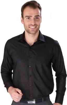Magson Elite Men's Solid Formal Black Shirt