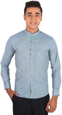 Henry Spark Men's Solid Formal Grey Shirt