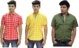 BK Black Men's Striped Casual Multicolor...