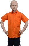 Puppet Nx Boys Solid Casual Orange Shirt