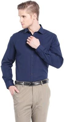 SG Apparels Men's Solid Formal Dark Blue Shirt