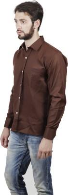 FDS Men's Solid Formal Brown Shirt