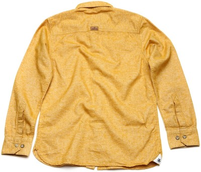 WROGN Boy's Solid Casual Yellow Shirt
