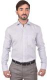 Success Men's Printed Formal White Shirt