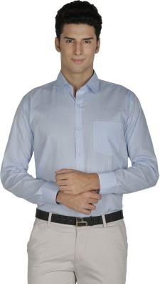 Asher Men's Solid Formal Light Blue Shirt