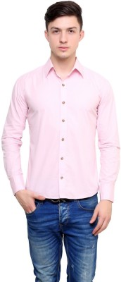 Shreebalajitraders Men's Solid Formal Pink Shirt