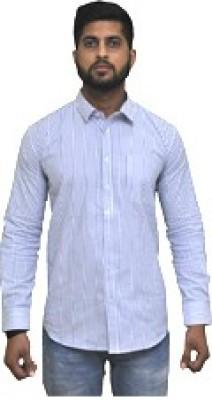 Cinchstore Men's Striped Formal Shirt