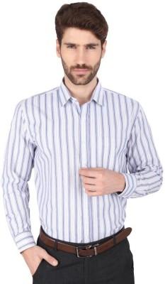 Big Tree Men,s Striped Formal Blue Shirt