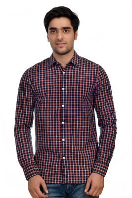 Parv Collections Men's Checkered Formal Multicolor Shirt