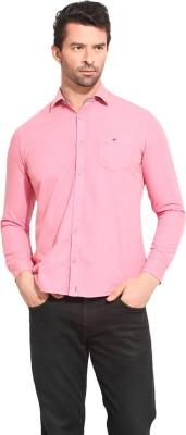 Leo Sansini Men's Solid Casual Pink Shirt
