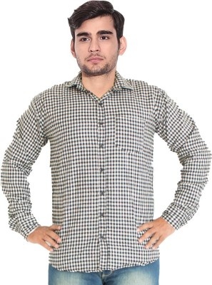 7 Buttons Men's Checkered Casual Multicolor Shirt