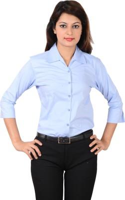 LGC Women's Solid Formal Light Blue Shirt