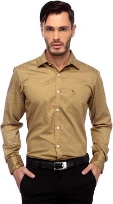 Frank Jefferson Men's Printed Party Brown Shirt